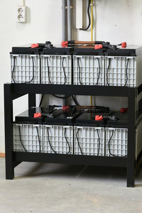 Władz składowe baterie fotografia stock