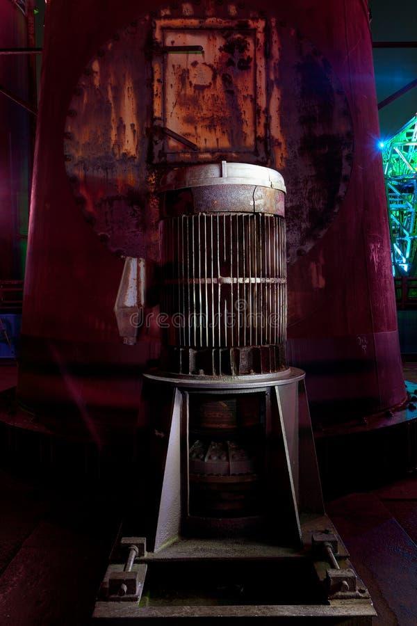 Władza generatoru światło malował Landschaftspark, Duisburg, Niemcy obraz stock