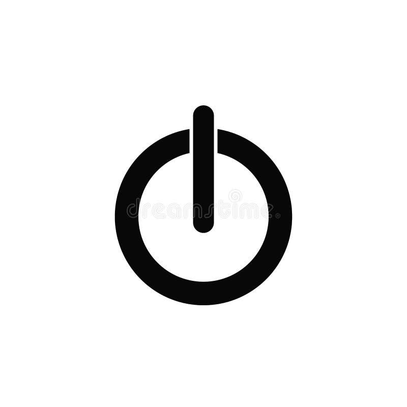Władza guzik, ikona Element prosta ikona dla stron internetowych, sieć projekt, mobilny app, infographics Gęsta kreskowa ikona dl royalty ilustracja