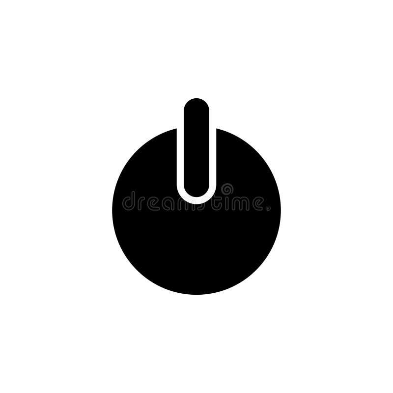 Władza guzika ikona Element prosta ikona dla stron internetowych, sieć projekt, wisząca ozdoba app, ewidencyjne grafika Znaki i s ilustracji