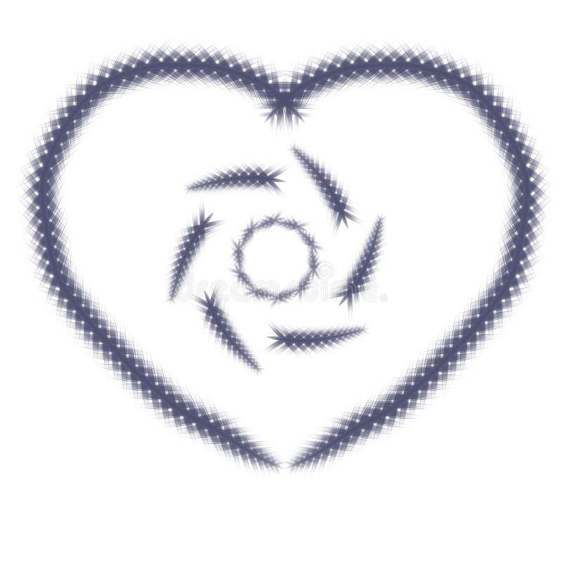 Władza miłość symbol ilustracja wektor
