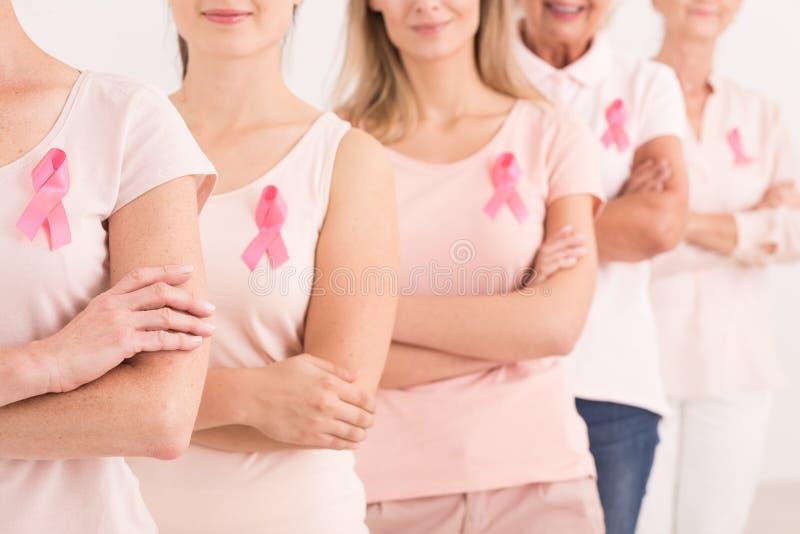 Władza walczyć nowotwór piersi fotografia royalty free