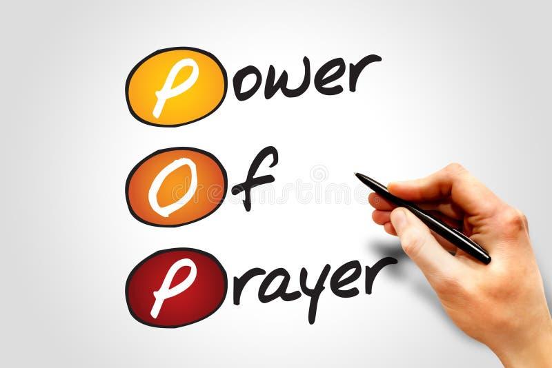 władze modlitwa royalty ilustracja