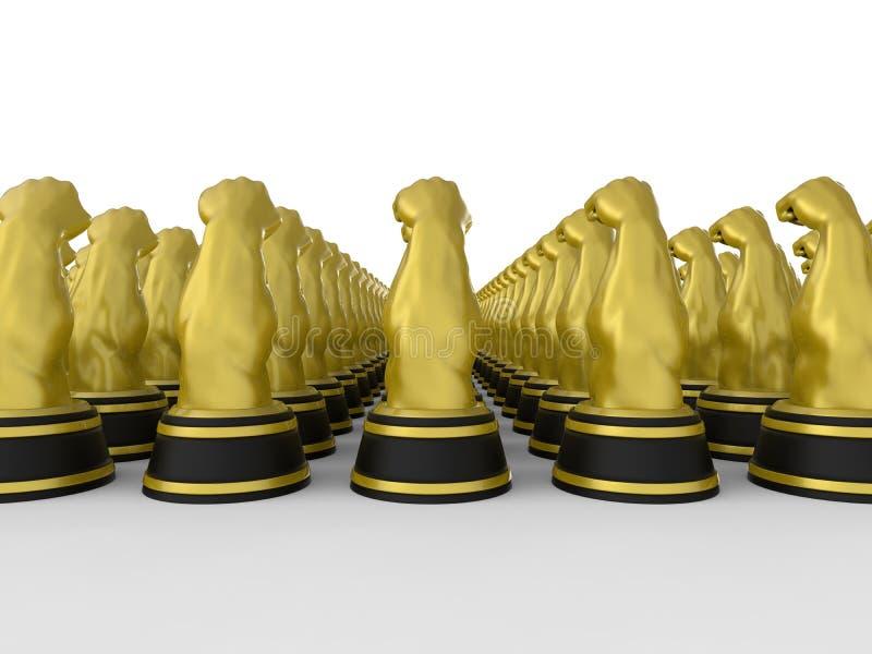 Władzy i siły nagrody royalty ilustracja