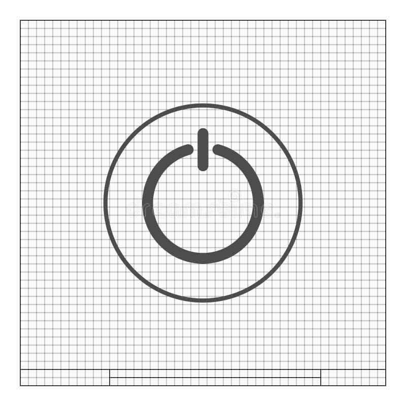 Władzy szyldowa ikona Płaski projekta styl ilustracja wektor