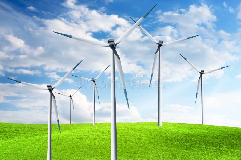 władzy turbina wiatr zdjęcia royalty free