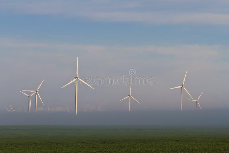 władzy turbina wiatr obraz stock