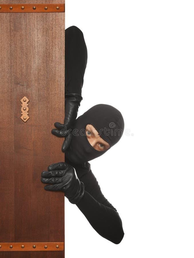 Włamywacz, Ninja, rabuś zdjęcie stock