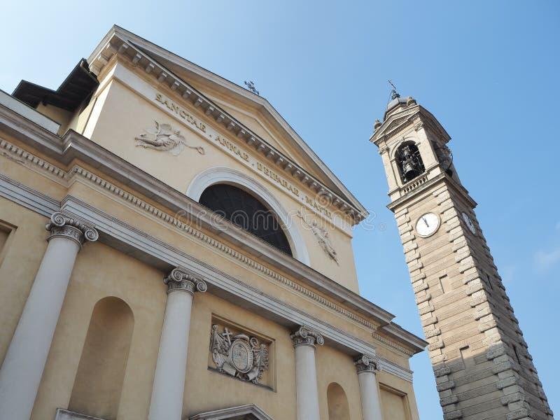 Włoch bergamo Fasada kościół święty Anna zdjęcia royalty free