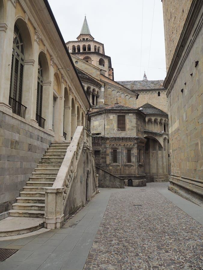Włoch bergamo Widoki ulicy stary miasteczko obraz stock