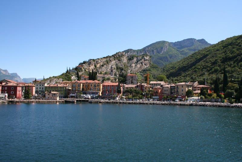 Włoch gardy jeziora torbole obrazy royalty free