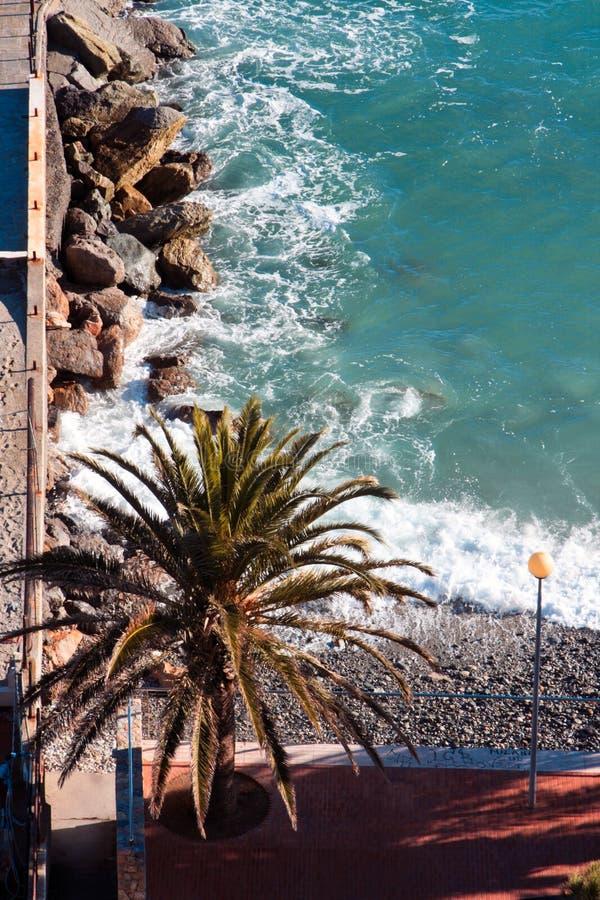włoch krajobrazowy Riviera zdjęcie royalty free