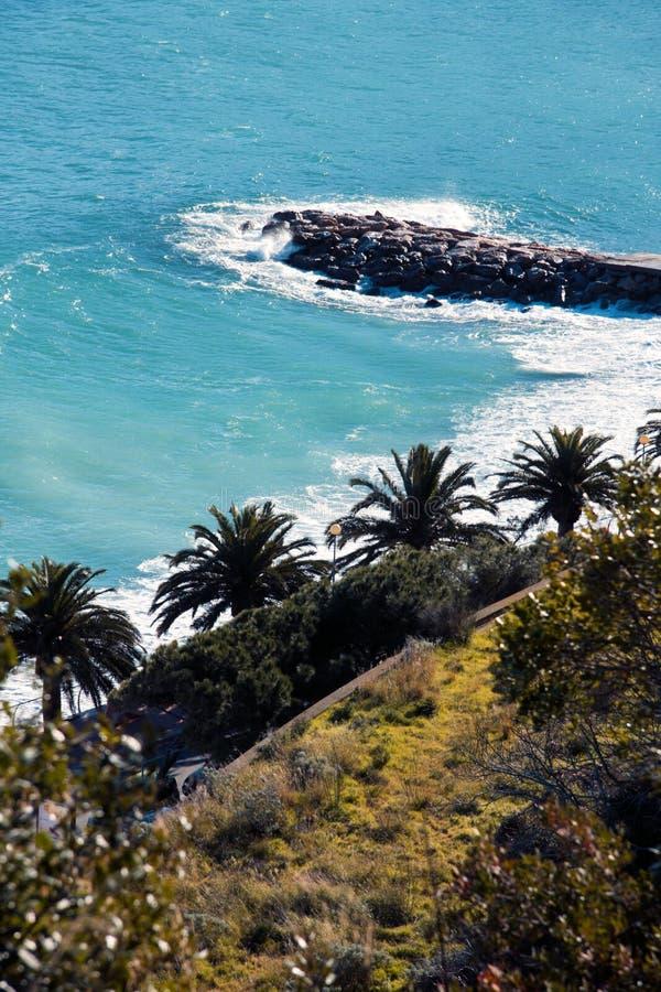 włoch krajobrazowy Riviera obrazy stock