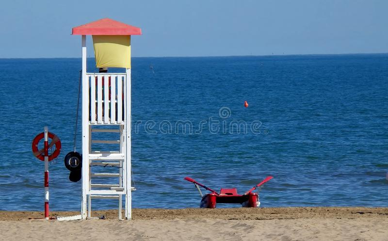Włoch na plaży fotografia stock