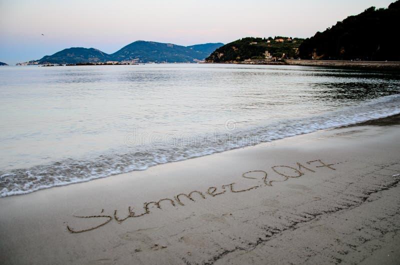 Włoch na plaży obraz royalty free