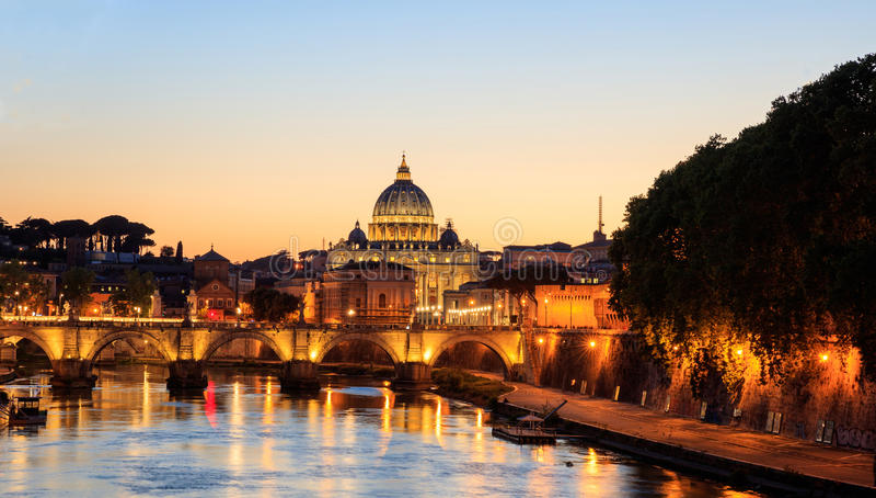 Włochy świętego Peters bazylika Watykan, Rzym - obrazy stock