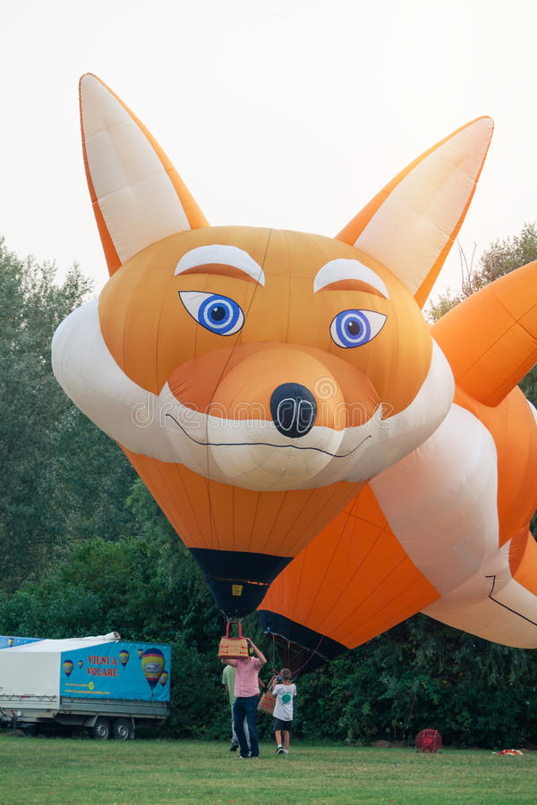 Włochy, Ballons festiwal 2016 Ferrara fotografia stock