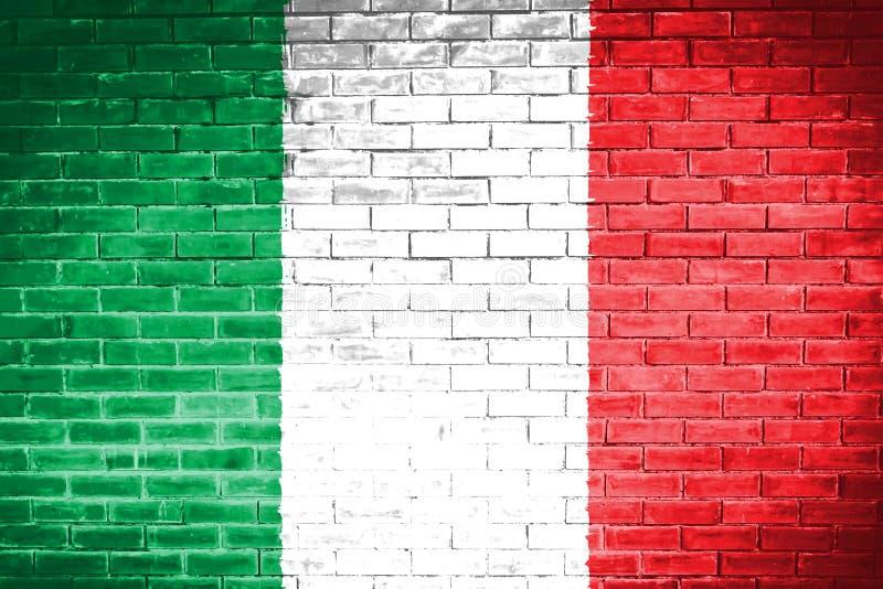 Włochy flaga, ścienny tekstury tło ilustracji