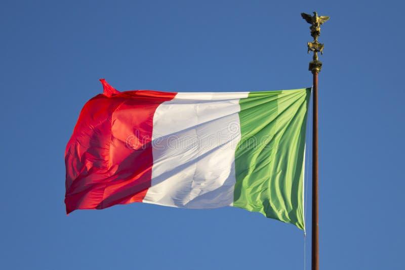 Włochy flaga zdjęcie stock