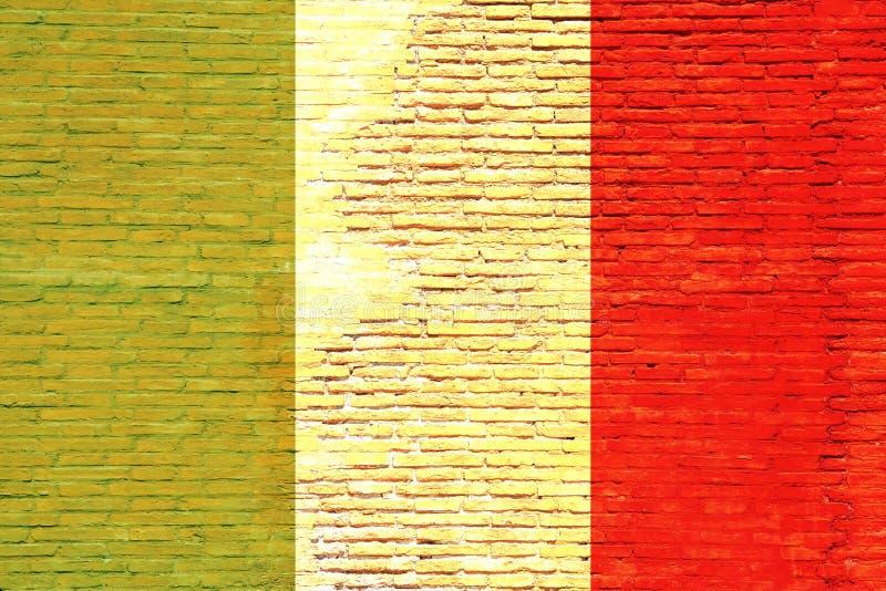Włochy flaga malująca na ściana z cegieł ilustracja 3 d ilustracja wektor