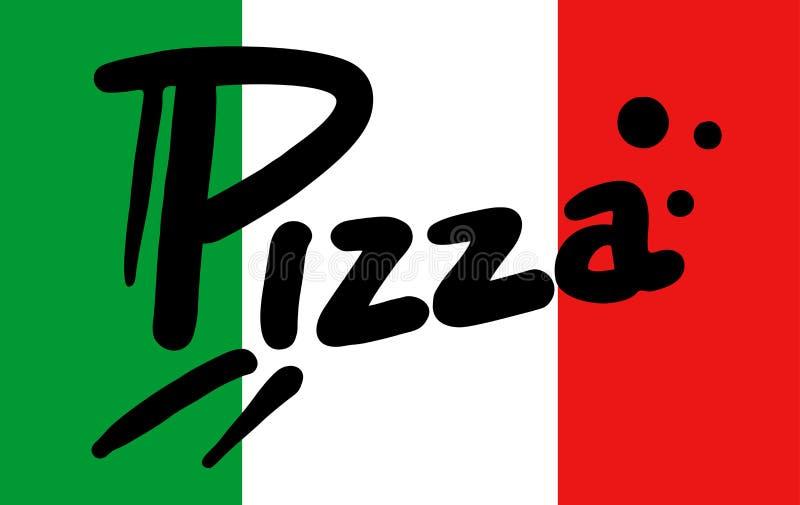 Włochy flaga pizza ilustracji
