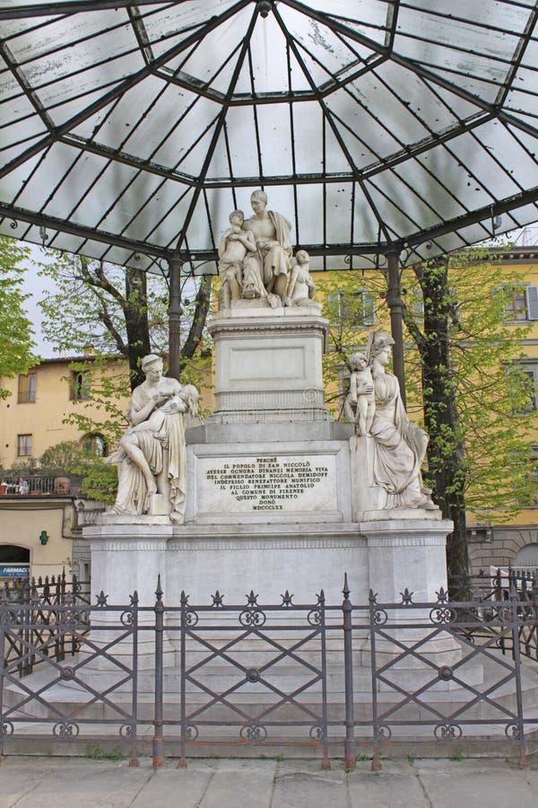 Włochy Florencja Zabytek dyplomata Nicholas Nikitich Demidov i filantrop zdjęcia royalty free