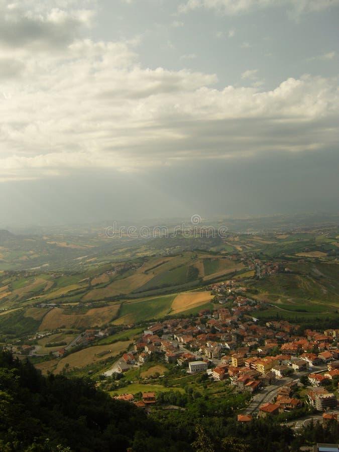 Włochy od above zdjęcie stock