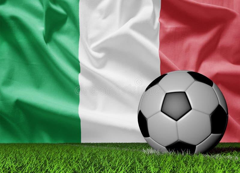 Włochy piłki nożnej piłka royalty ilustracja