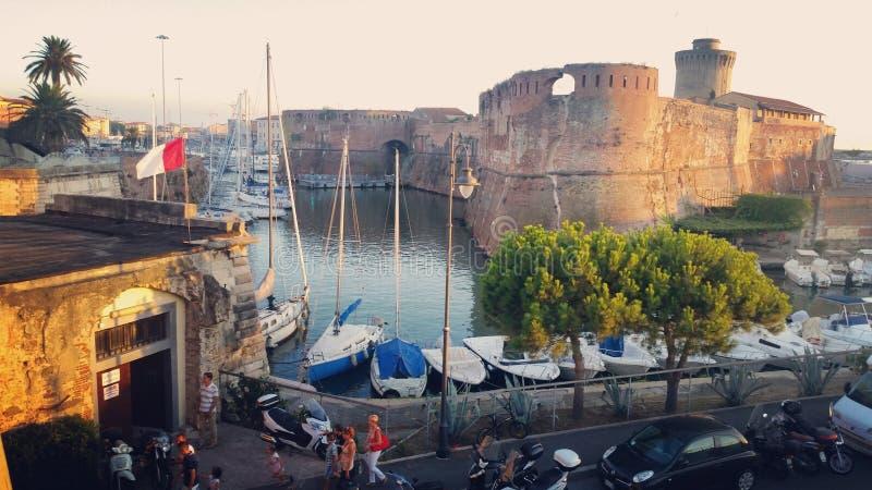 Włochy, portu di Livorno/ zdjęcie royalty free