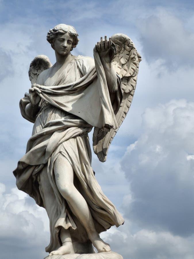 Włochy posąg anioła Rzymu obrazy stock