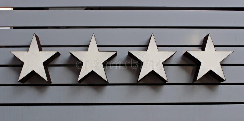 Włochy, Romagna, Rimini: Hotelu cztery gwiazdy obrazy royalty free