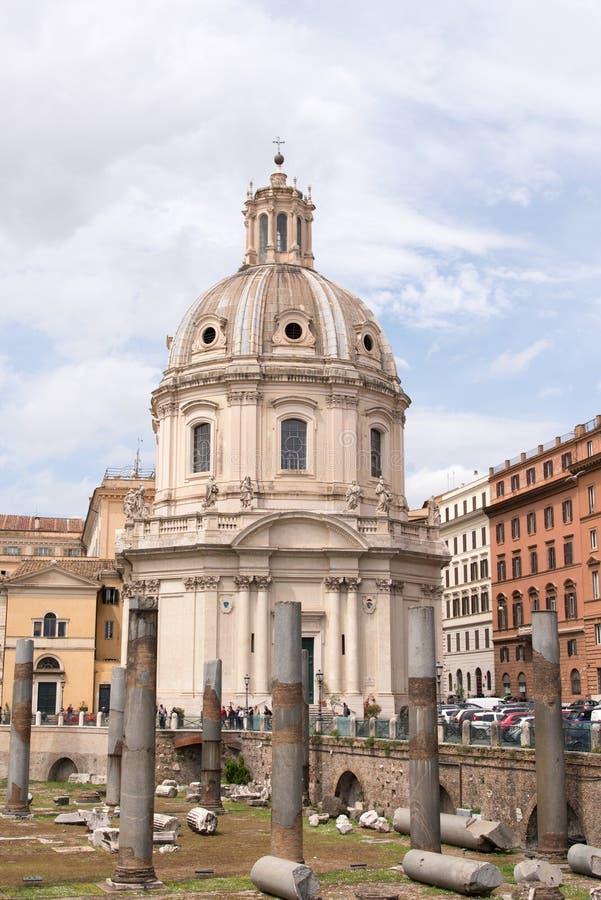 Włochy, Rzym, architektura, budynek, budowy obraz royalty free