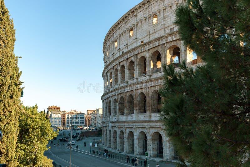 włochy Rzymu Grudzień 05, 2017: Colosseum w Rzym zdjęcie royalty free