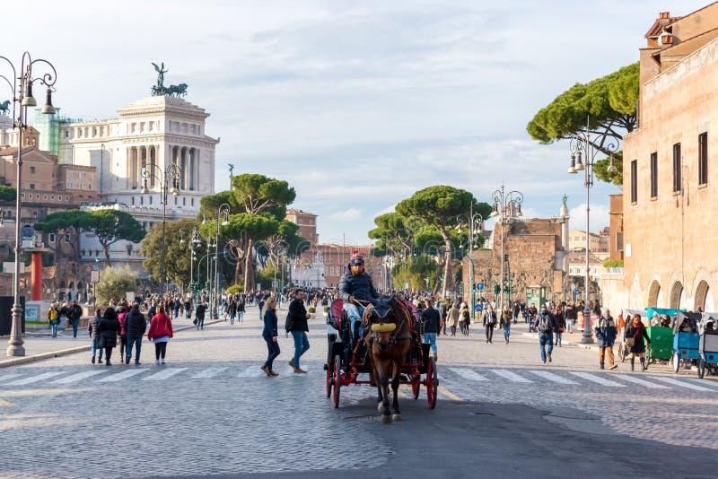 włochy Rzymu Grudzień 03, 2017 Piękny pejzażu miejskiego widok Rzym zdjęcie royalty free