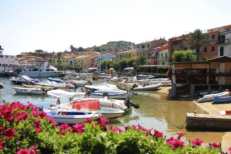 Włochy, Tuscany, Giglio wyspa obraz stock