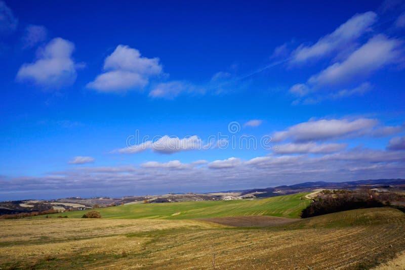 Włochy, Tuscany, Val d ` Orcia, wieś obrazy stock