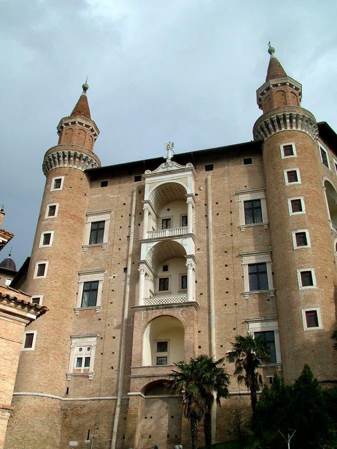 włochy Urbino pałacu. zdjęcia stock