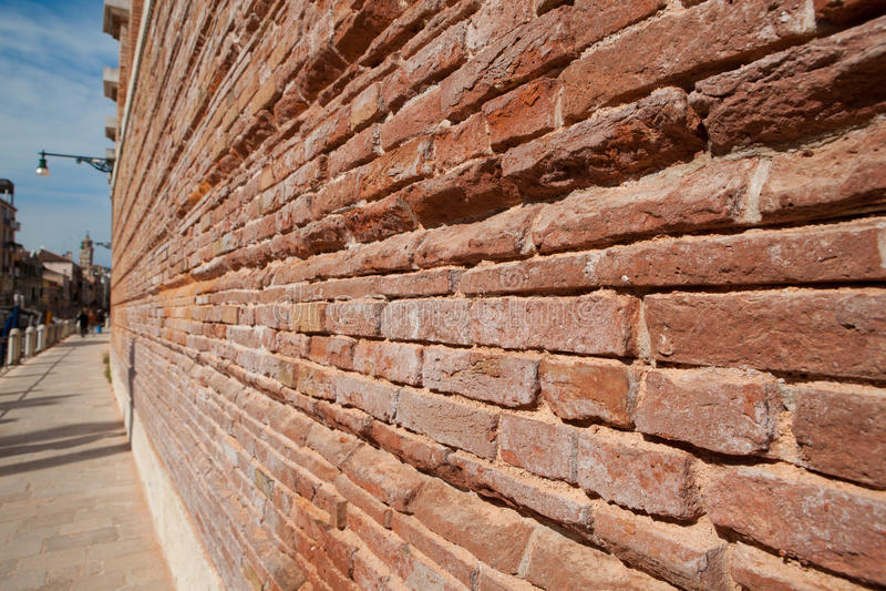 Włochy, Wenecja, antyczny ściana z cegieł zdjęcie royalty free