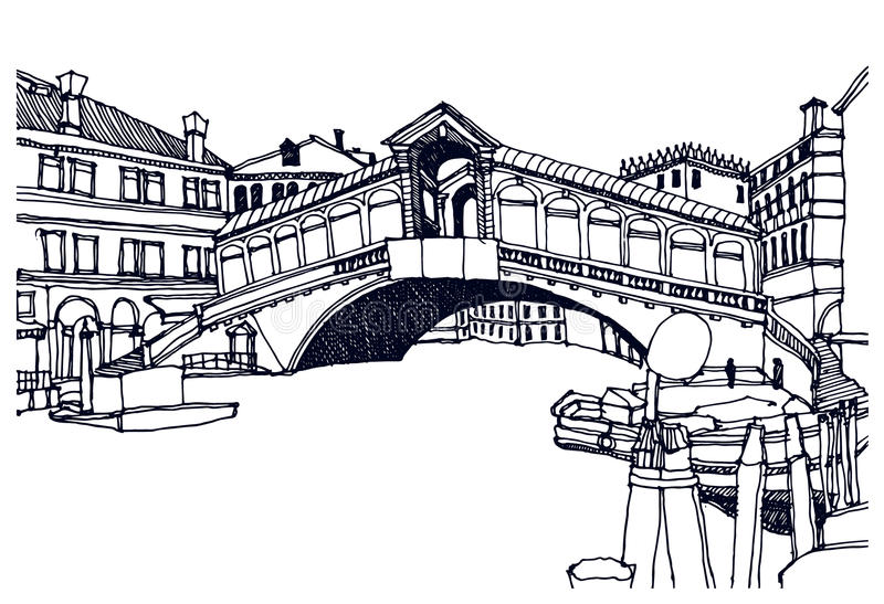włochy Wenecji ilustracja wektor