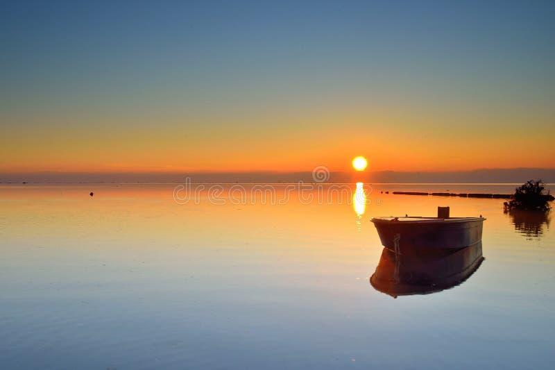 Włochy wyspa Grado świt zdjęcie royalty free