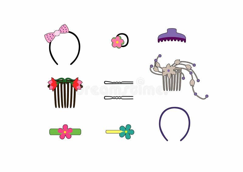 Włosów ornamenty royalty ilustracja