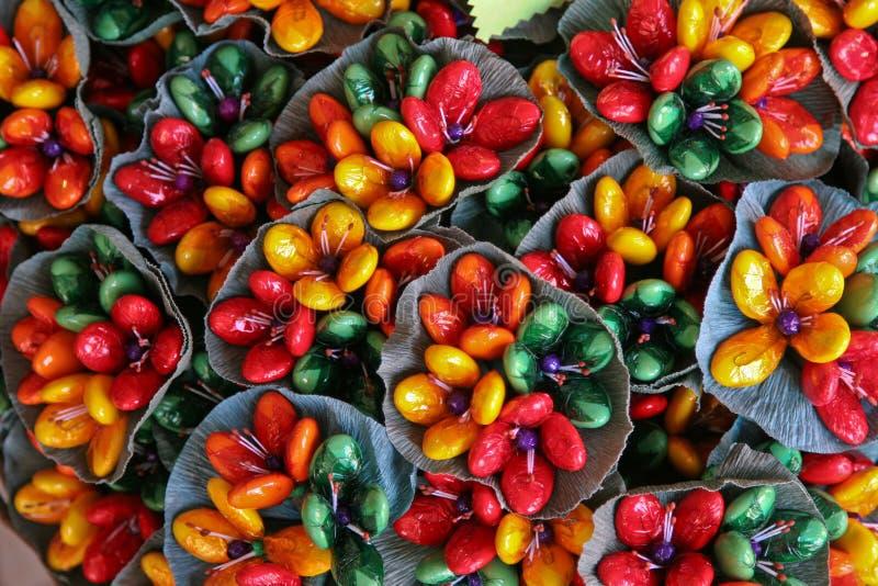 Włoscy confetti kwiaty, Sulmona, Włochy obrazy stock