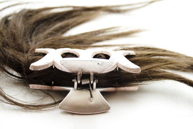 Włosiana klamerka z włosy fotografia stock