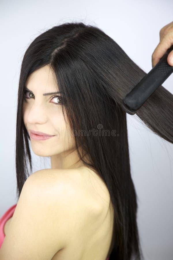 włosianego fryzjera długi target72_0_ obrazy stock