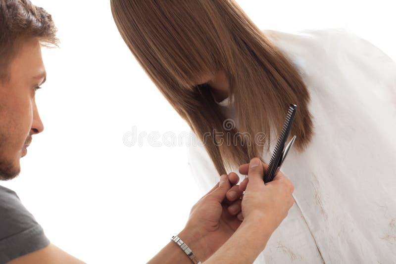 włosianego fryzjera długi wzorcowy profesjonalista zdjęcia royalty free