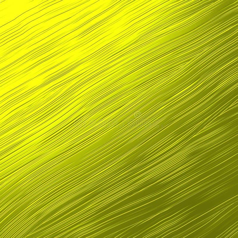 Włosianego muśnięcia metalu Złocista tekstura zdjęcie stock