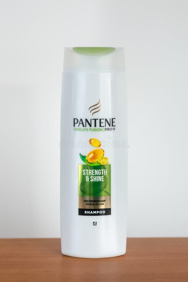 Włosianej szamponu Pantene natury fuzji pro siła & połysk zdjęcia royalty free