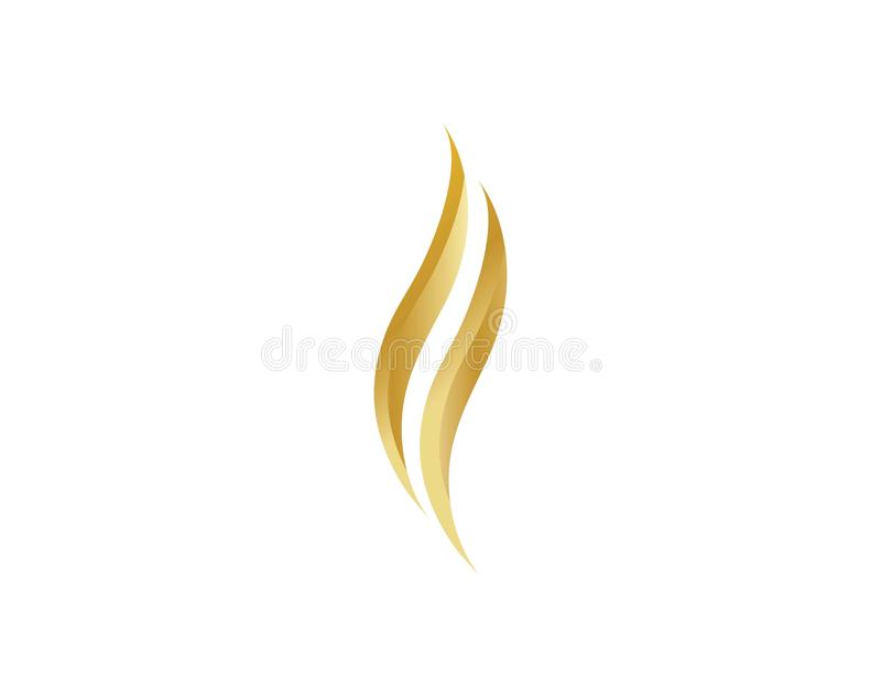 Włosiany logo szablon ilustracja wektor