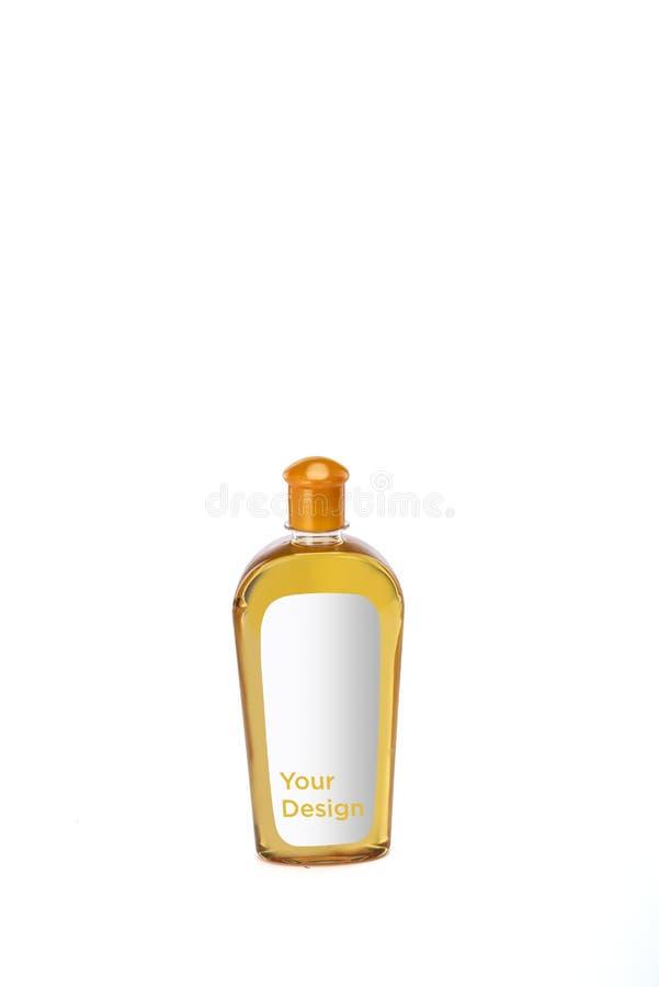 Włosiany nafcianej butelki mockup na białym tle obrazy stock
