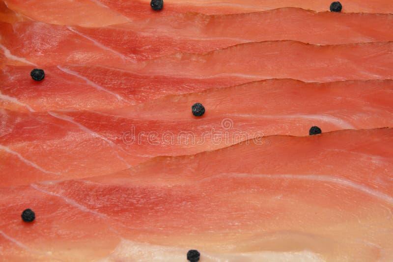 Włoska drobina, uwędzony smakowity baleron zdjęcie stock